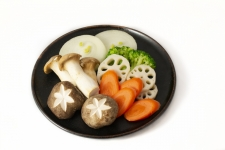 vegetables for grill with sauce